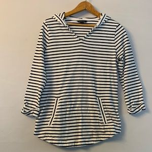 Lands' End black and white striped hoodie XS